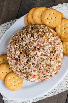 This easy cheese ball is loaded with roasted red pepper and garlic. It will disappear at parties and game days.