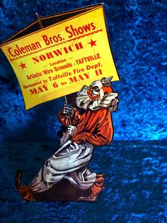 1950s Vintage Style Circus Clown Poster 16x24 New Mexico Rodea Arena