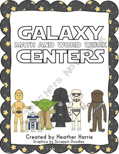 My boys love STAR WARS this is genius! Math and Word Work Centers  Star Wars theme.