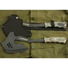 A Good handy Battle Axe... Stay away from Gimmicy Double sided blades... you'll probably end up hurting yourself...