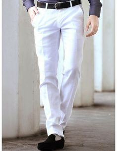 Buy Formal White Pants. http://www.bharatplaza.com/men/trousers.html