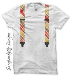 So geek chic!!  Suspenders Iron on Shirt PDF  Boys Iron on - Baby Shower Gift DIY by ScrapendipityDesigns, $2.50