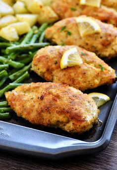 Crispy Lemon Garlic Chicken & Veggies