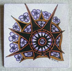 Zentangle VIII MusterMixer #8 u DivaChallenge