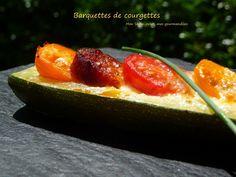Barquettes de courgettes au chorizo, tomates cerises et mozzarella