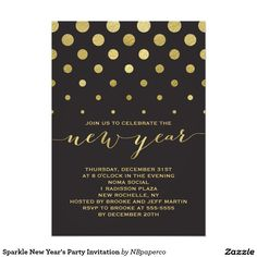 sparkle new years party invitation