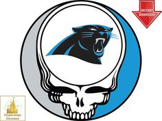 e9112b38e Grateful Dead Carolina Panthers Steal Your Face NFL Playoff T Shirt Iron On  Transfer DIY Custom Decal Print Personalized. Pennyring Designs