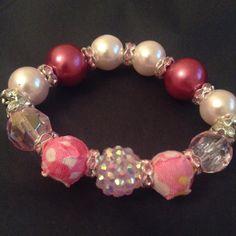 Pink pretty bracelet by MiniTotsBling on Etsy