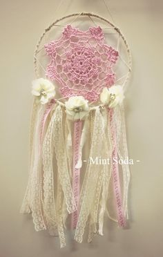 floral pink dream catcher