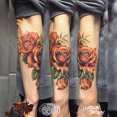 Tattoo artist Vladislav Shetikov color realistic tattoo , new school   Russia