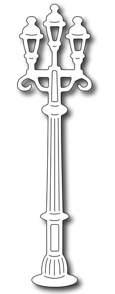 Frantic Stamper - Precision Dies - Parisian Lamp Post,$7.99