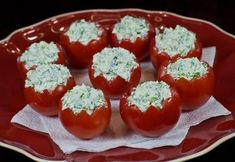 Фото к рецепту: Помидоры, фаршированные мягким сыром