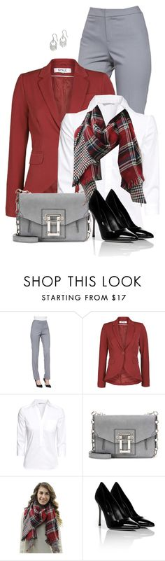 """""""Fall Outfit"""" by daiscat ❤ liked on Polyvore featuring Lafayette 148 New York, ONLY, H&M, Proenza Schouler, Sergio Rossi and Giani Bernini"""