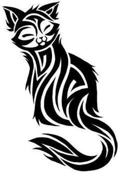 Cat Tattoo Design - see more designs on http://thebodyisacanvas.com
