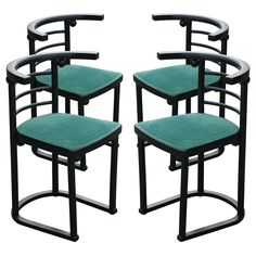 Set Of Four Chairs By Josef Hoffman For Thonet