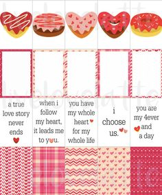 Happy Planner (VALENTINES DAY DONUTS) Stickers - digital - Instant Download by LiveLoveLatte on Etsy