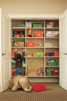 closet in playroom