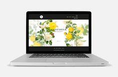 Anastasia K. web-site by Anastasia Kolesnikova, via Behance