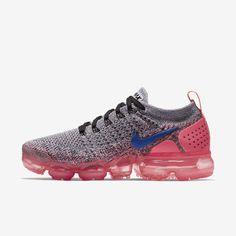 Nike Air VaporMax Flyknit 2 Women's Running Shoe - White/Hot Punch/Black/Ultramarine 942843-104 Tênis Nike, Sapatos, Feminino, Tênis Casuais, Tênis De Basquete Nike, Nike Para Mulheres, Chinelos, Mulheres, Provençal, Sapato, Tênis