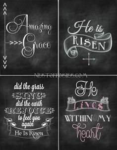 Easter #Chalkboard Printables via Nest of Posies
