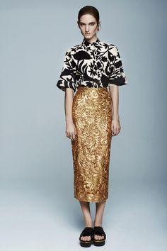 SS14 Editorial - #DriesVanNoten Shirt & Skirt   #LaurenKlassen Earrings    #Marni Shoes