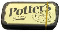 Pottertjes mijn vaders oplossing voor alle keelpijn, hoest etc