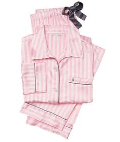 Victoria's Secret The Afterhours Satin Pajamas | Still sleeping in old boxers and a tee from college? Give your sleepwear (and—who knows—maybe your love life!) an upgrade with these stylish PJ sets, just in time for Valentine's Day.