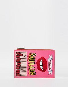 Skinnydip+'Hot+Lips'+Novelty+Clutch+Bag