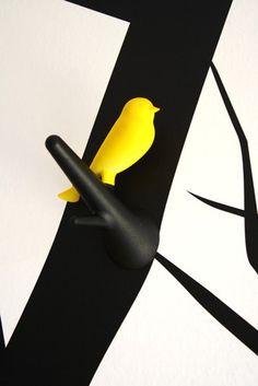 cute little bird hooks
