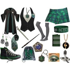 slytherin uniform, created by nikkimickey.polyv...