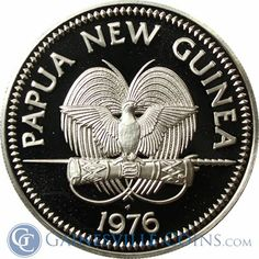 Papua New Guinea 10 Kina Proof Silver Coin - Raggiana Bird of Paradise-Add a little paradise to your life with this beautiful specimen of the avian world! http://www.gainesvillecoins.com/