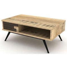 S'inspirant des contrées nordiques, la <strong>table basse ETHNICA</strong> apportera à votre intérieur une touche épurée et sobre parfaitement contemporaine.<br /><br />Une<strong> table basse design à l'esprit vintage</strong> en panneau de particules et de fibre de moyenne densité stratifié. <br /><br /><strong>D...