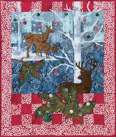 Majestic Splendor  - Winter Frolic Christmas Quilt Kit