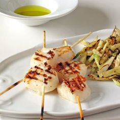grilled scallops and fennel