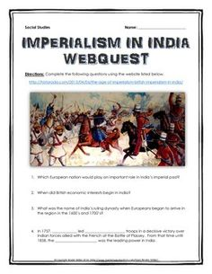 british imperialism in india essay questions 2 days ago  my answer to his question made him even angrier  composed a paean to british imperialism  if india had broken up into language republics, .
