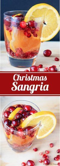 Christmas Sangria - Easy to make cranberry, orange and pomegranate sangria - the perfect special drink for your holiday plans!
