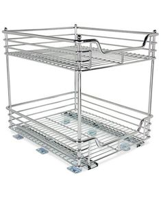 household essentials chrome 2tier glidez sliding organizer macyscom