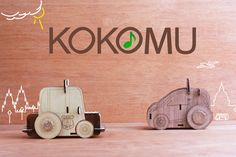 KOKOMU Wooden GOGO Music Box Car. DIY Kits. Music box for kids.