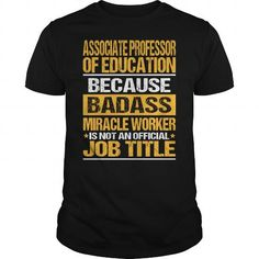 Awesome Tee For Associate Professor Of Education - #creative tshirt #gray sweater. THE BEST => https://www.sunfrog.com/LifeStyle/Awesome-Tee-For-Associate-Professor-Of-Education-139377787-Black-Guys.html?68278