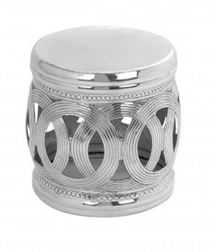 Aluminum Stool with Interconnected Ring Patterns