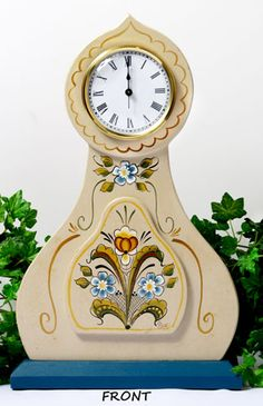 Hemslojd Swedish Gifts - Tall Swedish Mantle Clock