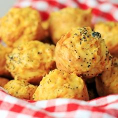Mini savoury muffins with pumpkin and poppy seeds.   Perfect for afternoon tea for you or your baby