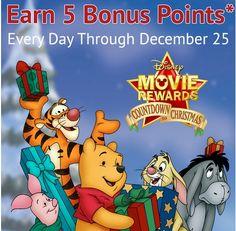 Disney Movie Rewards Christmas Codes | New 5 Point Codes Daily – 12/19 #couponcode #disney