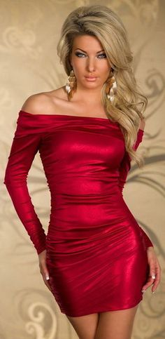 #Sexy Off Shoulder Metallic #Dress . #fashion #style