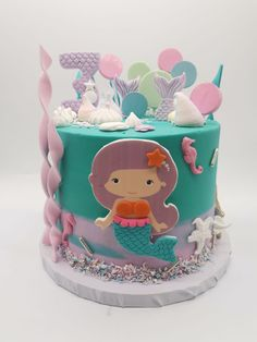 Mermaid Cakes, Treats, Desserts, Food, Sweet Like Candy, Tailgate Desserts, Goodies, Deserts, Essen