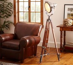 Surveyor's Spotlight Floor Lamp - From Pottery Barn - too bad this is discontinued!