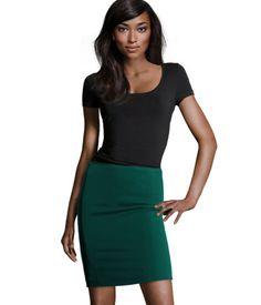 Hunter green for the Bargain-Hunter: Skirt at H US $17.95