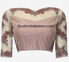 boat neck net blouse