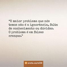 http://arata.se/oi30  O maior problema que nós temos não é a ignorância falta de conhecimento ou dúvidas. O problema é em falsas crenças.  __________________________________________________________________________ #ArataAcademy #ArataAcademyPORTUGUESE #AutoDesenvolvimento #Domínio #edtech #elearning #instadaily #PhotoOfTheDay #PicOfTheDay #Produtividade #SeiitiArata #vida #portugues