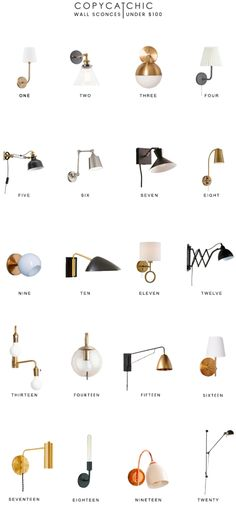 Home Trends   our favorite wall lamps and sconces for under $100 from copycatchic luxe living for less budget home decor and design looks for less